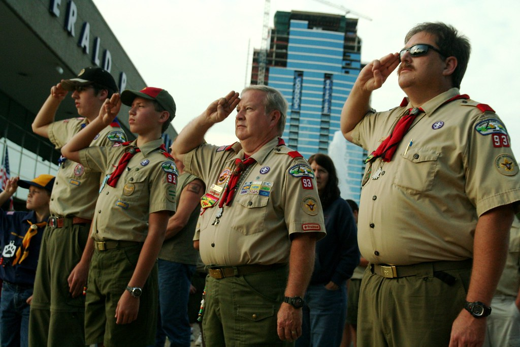 Img 1368 Boy Scout Flag Salute At Gerald R Ford Museum