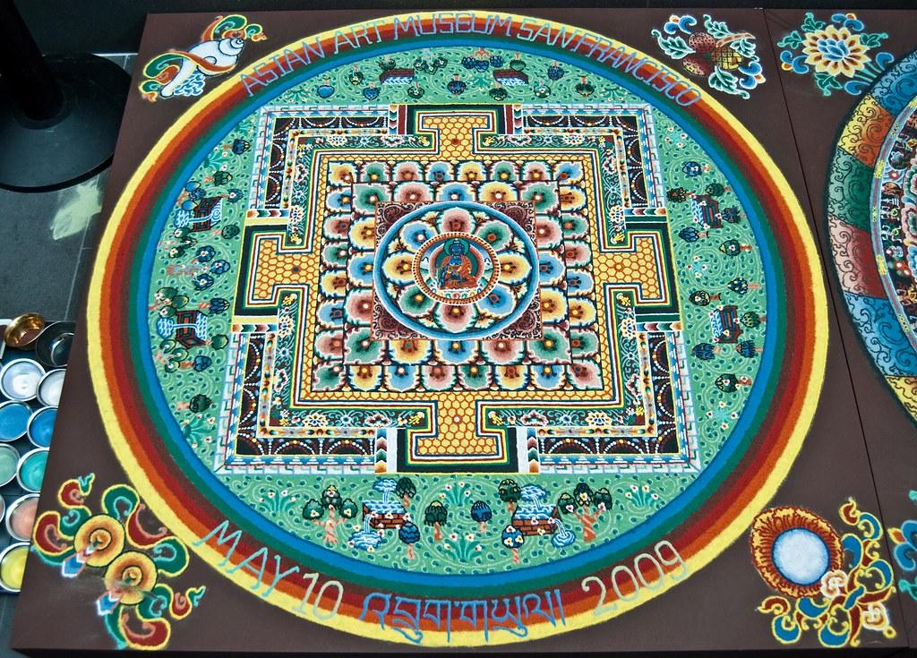 bhutan buddhist monk sand art the quotsacred arts of bhutan