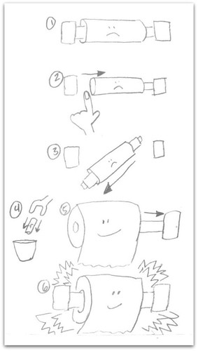 Changing the toilet paper roll: a visual guide | by passiveaggressivenotes