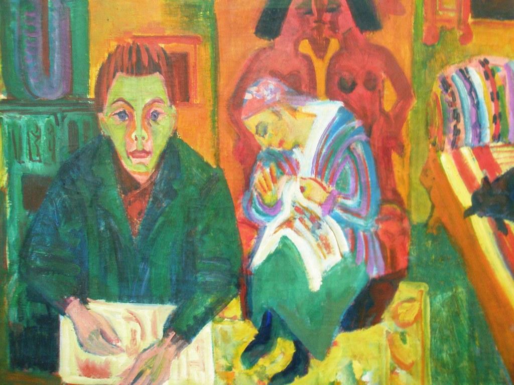 Ernst Ludwig Kirchner Das Wohnzimmer The Livingroom 1