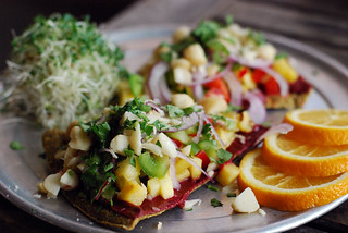 Ecopolitan Raw Hawaiian Pizza | by swellvegan