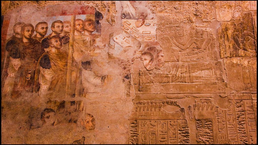 Mural romano en templo egipcio el templo de luxor for Mural egipcio