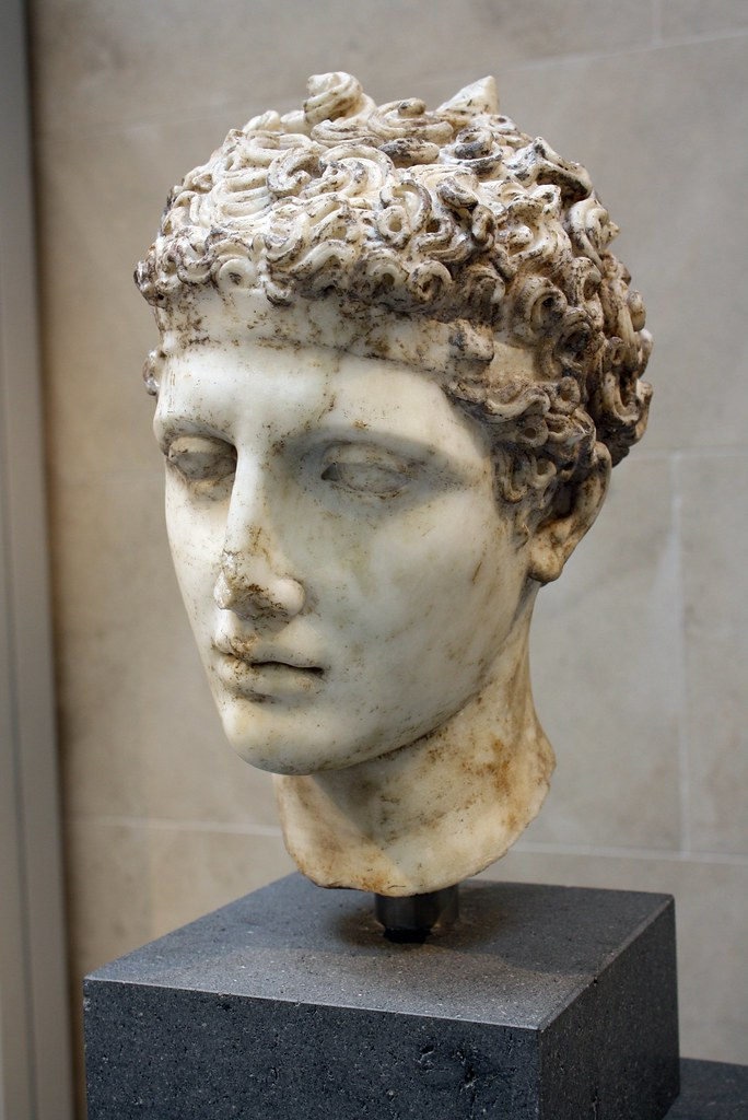 A Magnificent And Important Roman Marble Head Of An Athlet