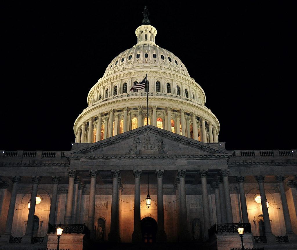 U S  Capitol Building At Night 2