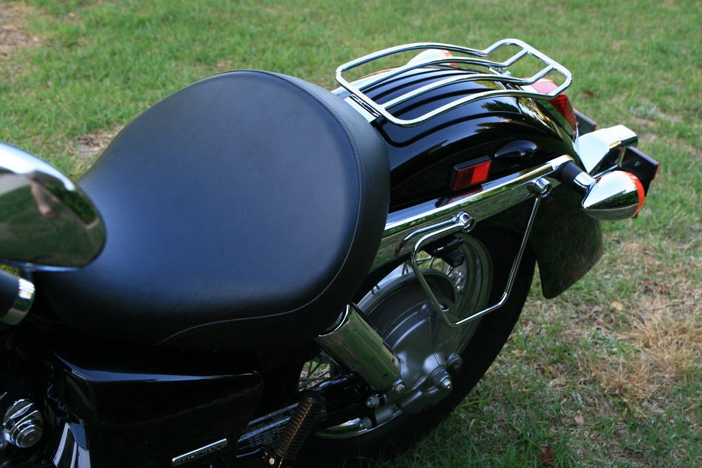 Honda Shadow Fenders : Curved rear fender luggage rack on my wife s honda shadow