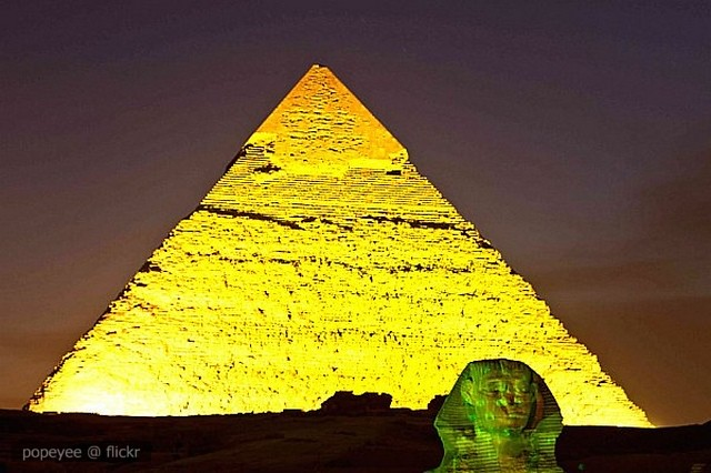 The Golden Pyramid The Sound And Light Show In Giza Egypt Flickr