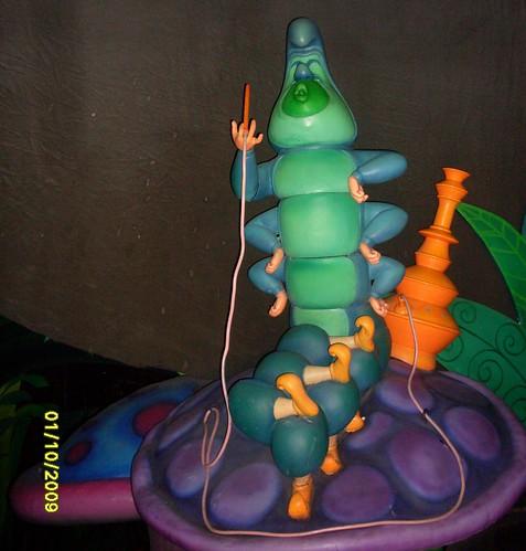 "Hookah-Smoking Caterpillar in ""Alice in Wonderland"" ride ... Alice In Wonderland Hookah"