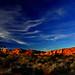 Joshua Tree Red Hills at Sunset