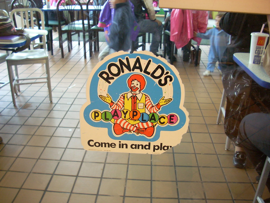 Ronald S Playplace Sign A Sign For Ronald S Playplace At