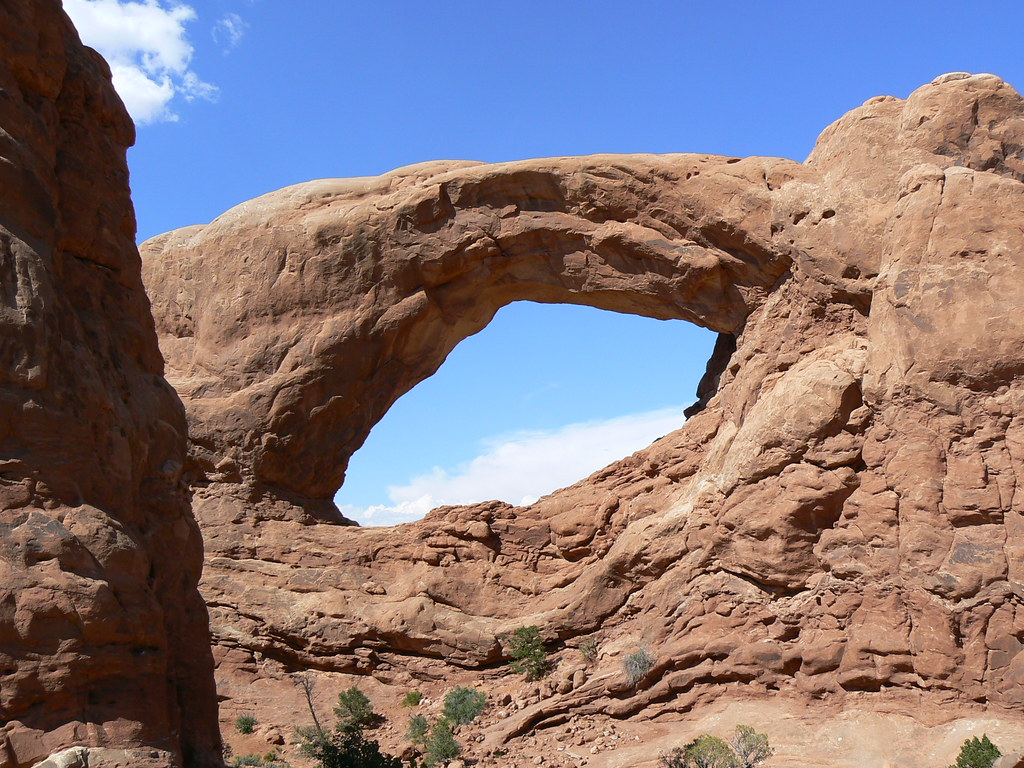 Natural Arch In Arches State Park Utah Natural Arch In