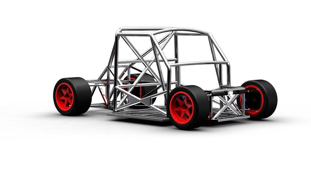 Chassis Racing Car Render Da Hypershot Di Un Telaio
