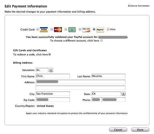 how to add payment methods to itunes