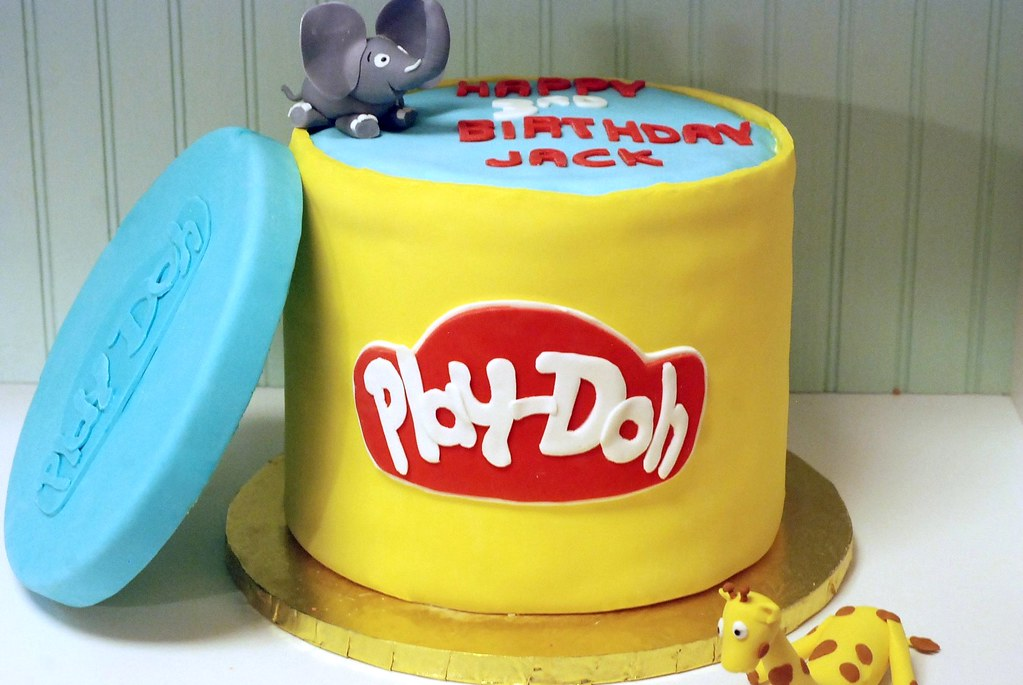 play doh cake this cake was 8 inches tall consisted of 6 flickr. Black Bedroom Furniture Sets. Home Design Ideas