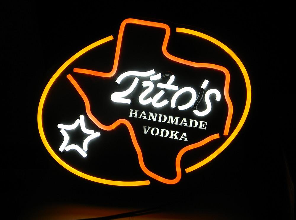 tito vodka sign neon bar led