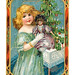 Christmas Vintage Postcard Dolly