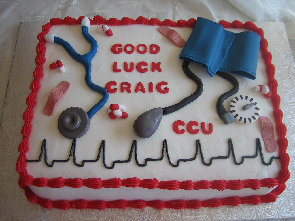 Good Luck Nurses Cake Good Luck Nurses Cake With Cardiac