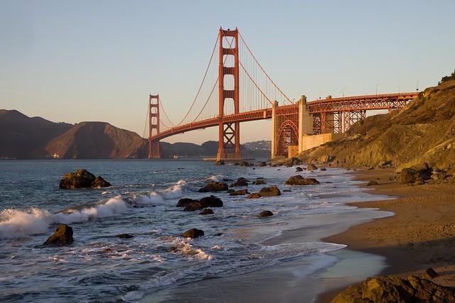 Golden gate bridge from baker beach san francisco calif for Trodel mobel