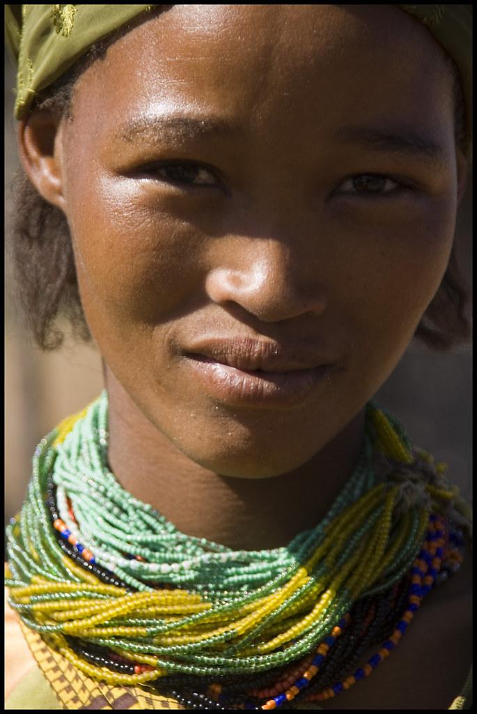 Beautiful Woman In Kalahari Namibia The Ju Hoansi