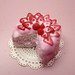 Miniature Pink Strawberry Cake