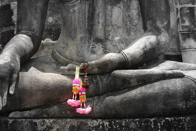 Buddhas Hands Seated Buddha At Sukhothai Thailand