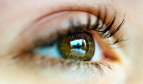 Close up eye