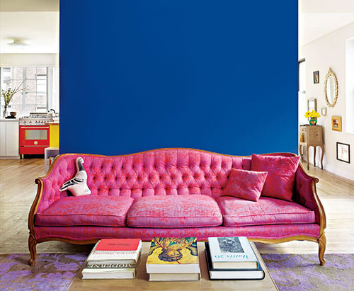 Pink And Blue Living Room