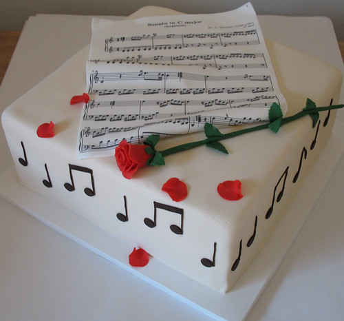 Music cake A small get music get together. They just ...
