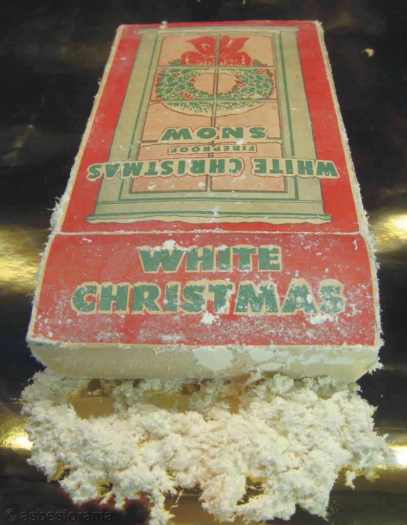 White Christmas Asbestos Snow Example Of Asbestos