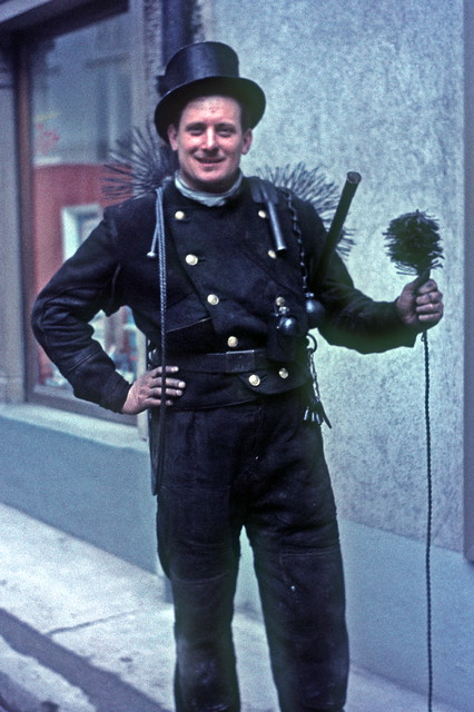 Chimney Sweep In Germany Soot Covered Chimney Sweep