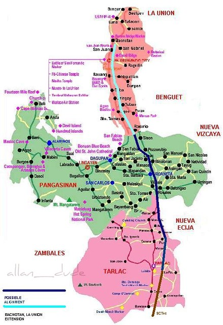 Proposed Tarlacpangasinanla Union Expressway Proposed Ta Flickr - Launion map
