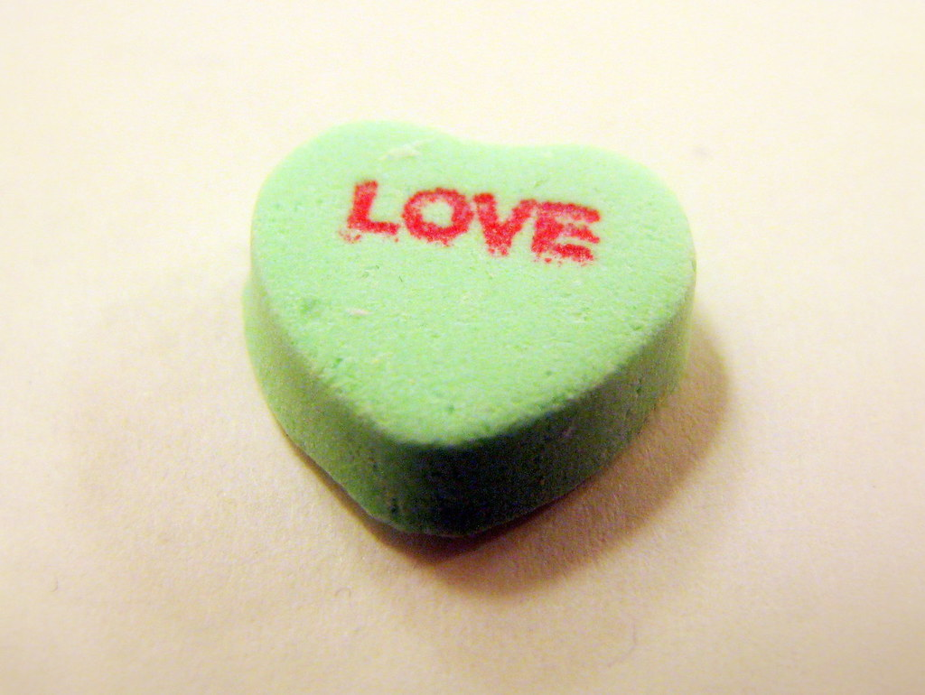candy hearts: love | these are some test macro shots i took … | flickr