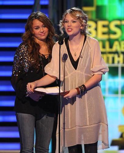 Taylor Swift & Miley Cyrus presenting at the 51st Grammy A ... Gwyneth Paltrow