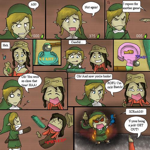 Legend of Zelda Rollgoal minigame | the ultimate scam O_O hi ...