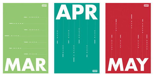 Weekly Calendar Design : Typography calendars a design project for my