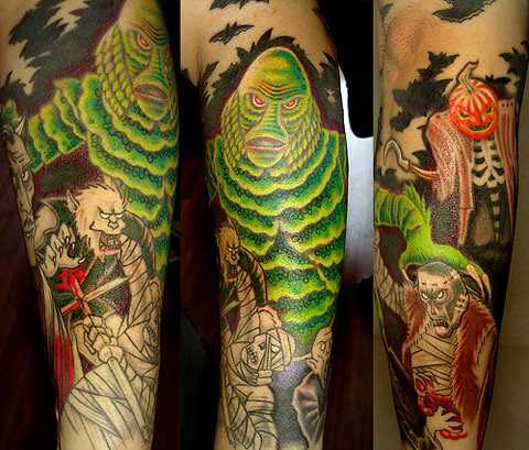 Creature from the black lagoon tattoo more great designs for Monster tattoo designs