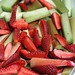rhubarb & strawberries