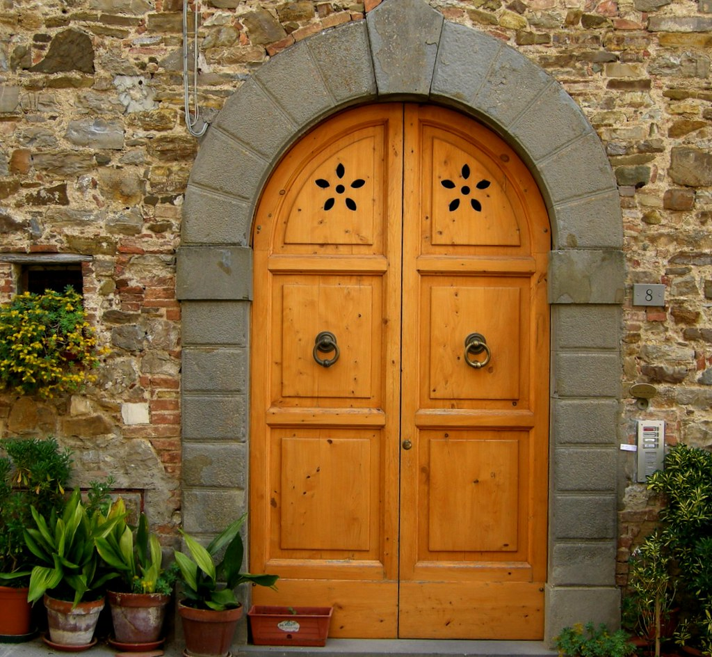 A Beautiful Door In Chianti They Have The Most Beautiful D