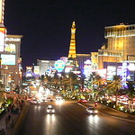 Night street view of las vegas strip