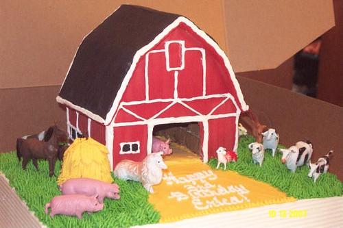 Barn Cake Dbl Layer 1 4 Sheet Cake Barn Made With Graham