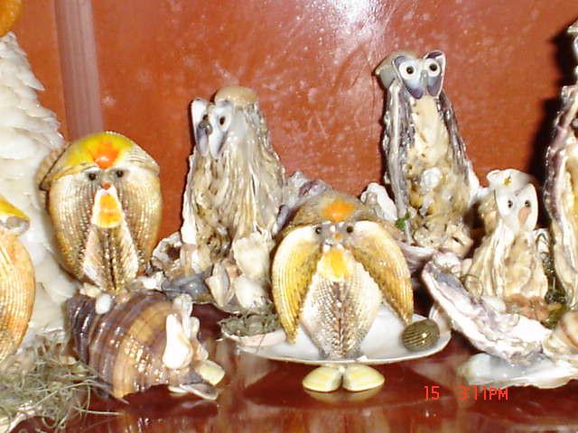 Peças em conchas Artesanato feito com cascas de ostras e b u2026 Betinha Goes Flickr