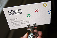 6 color letterpress business cards - printed by Boxcar Press | by boxcarpress
