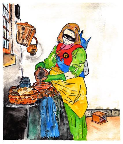 A partir de jan vermeer la lechera de la serie el duo di - La lechera de vermeer ...