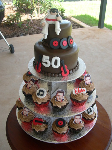 Elvis fan 50th birthday cake Flickr - Photo Sharing!