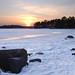 Sunset over the Frozen Sea