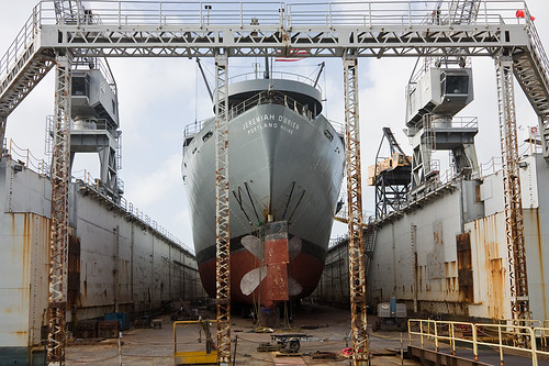 SS Jeremiah O'Brien in DryDock at Pier 70, San Francisco | by AGrinberg