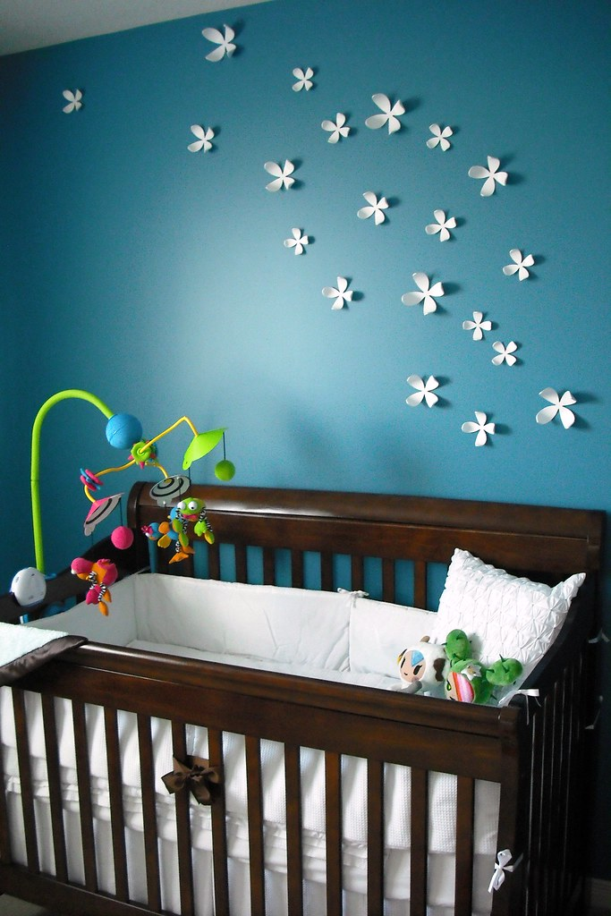 Nursery crib wall decor holli flickr for Baby cot decoration ideas