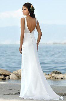 Low back beach wedding dresses beach wedding dresses for Beach wedding dress low back