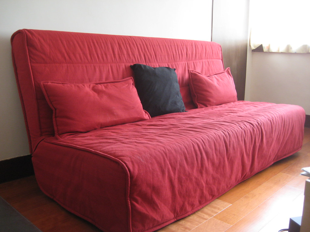 ikea sofa bed beddinge red