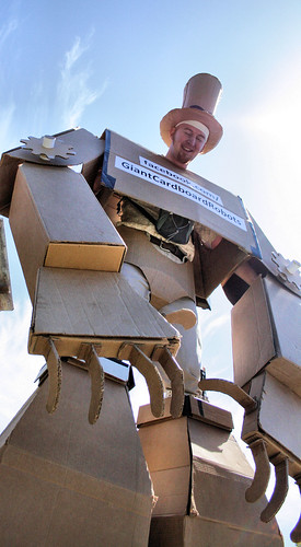 Giant Cardboard Robots | by Richard Masoner / Cyclelicious