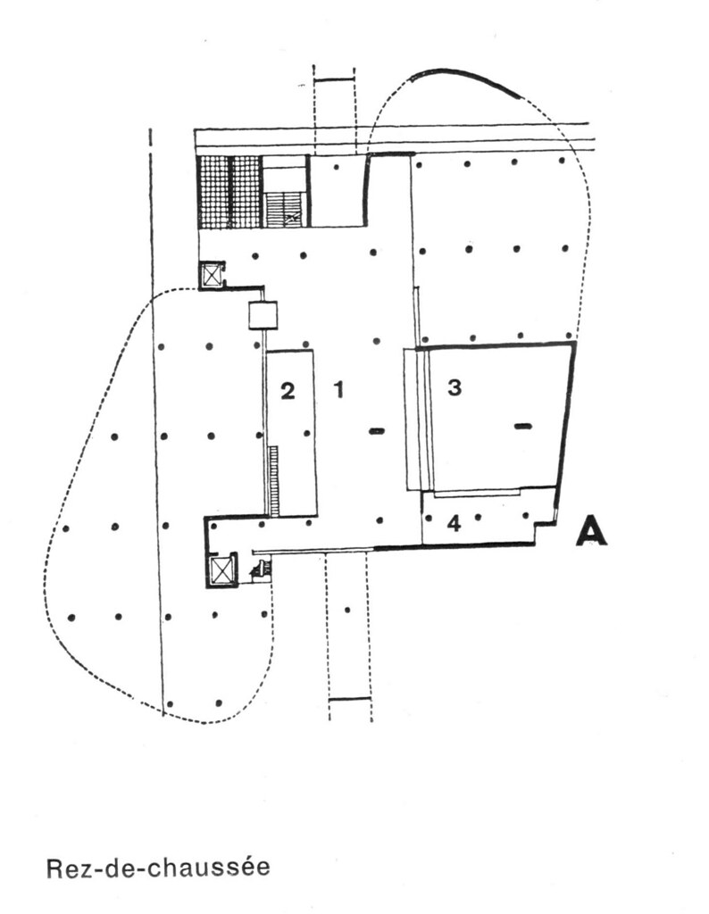 Le Corbusier Carpenter Center Plan Level 0 Evan